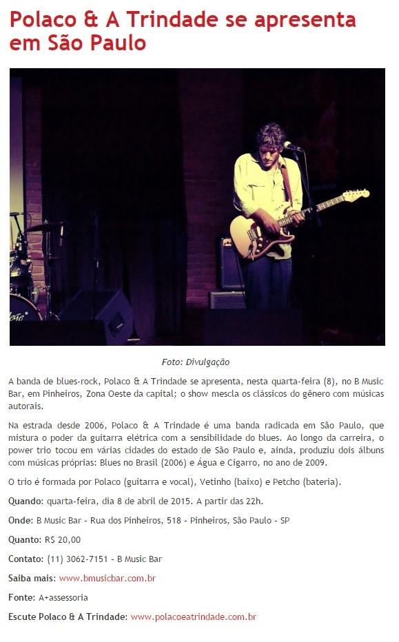 Polaco & A Trindade no B Music Bar