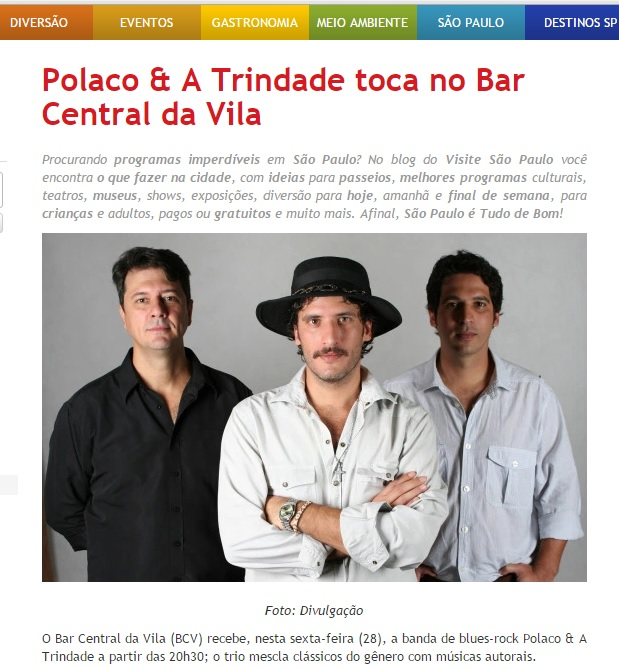 Polaco & A Trindade no Bar Central da Vila